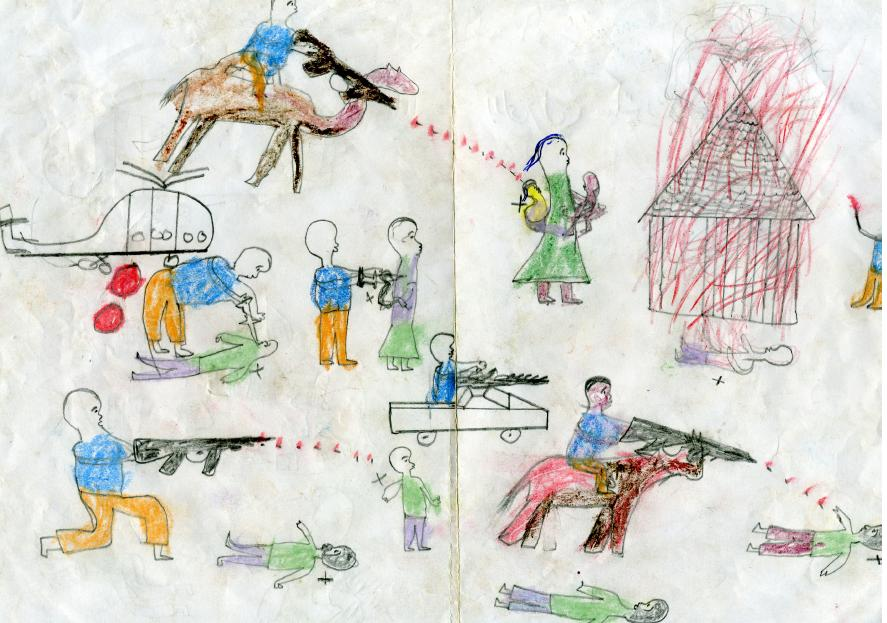 Drawn camel children's And Evidence Children of Genocide