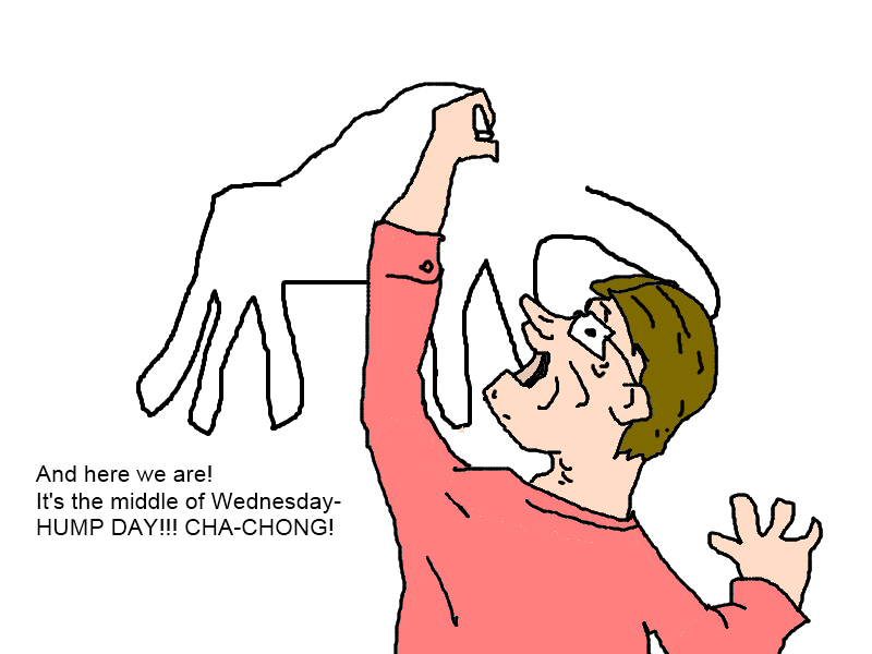 Drawn camel hump day camel And