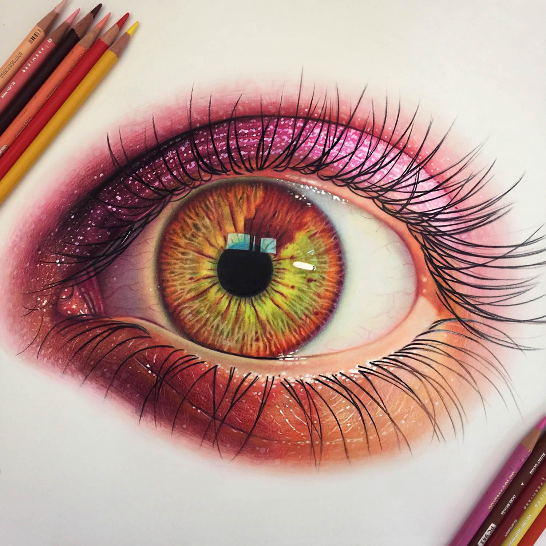 Drawn cameleon eye By Eye Realistic Jose Realistic