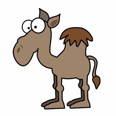 Drawn camels :  Drawing to Cartoon