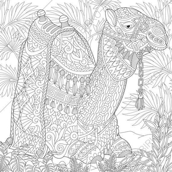 Drawn camels coloring book Camel by by ColoringPageExpress Camel
