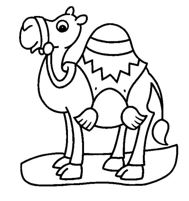 Camel clipart coloring book Pages com Bestofcoloring Coloring For