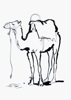 Drawn camel house Camel?? Child Standing an draw