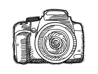 Drawn camera Photos Search vector drawing