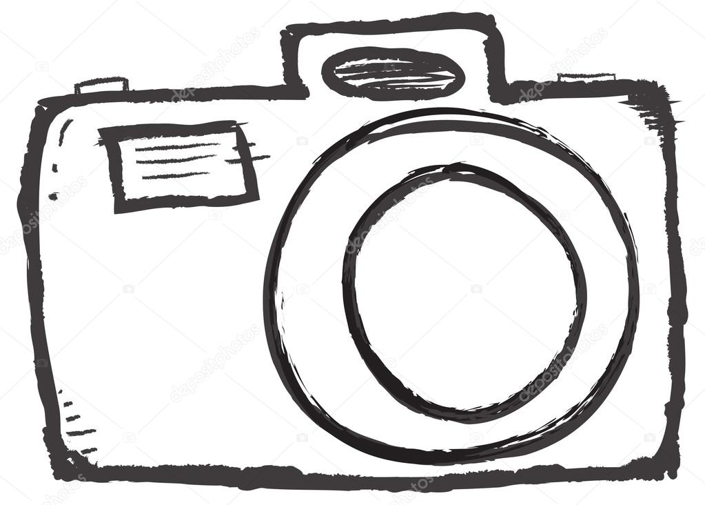 Drawn camera Vector #53097745 Stock Vector melking