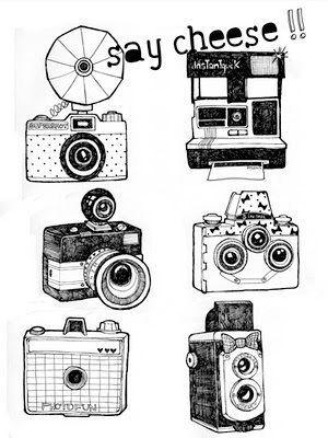 Drawn camera easy Print Beautiful  cut Beautiful