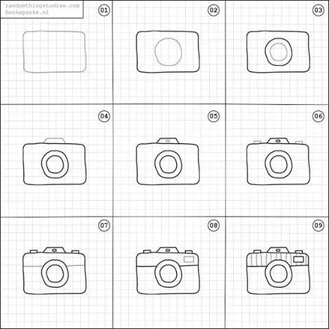 Drawn camera easy  on Camera a art