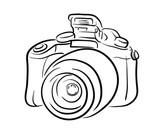 Drawn camera easy Hand DSLR DSLR a illustration
