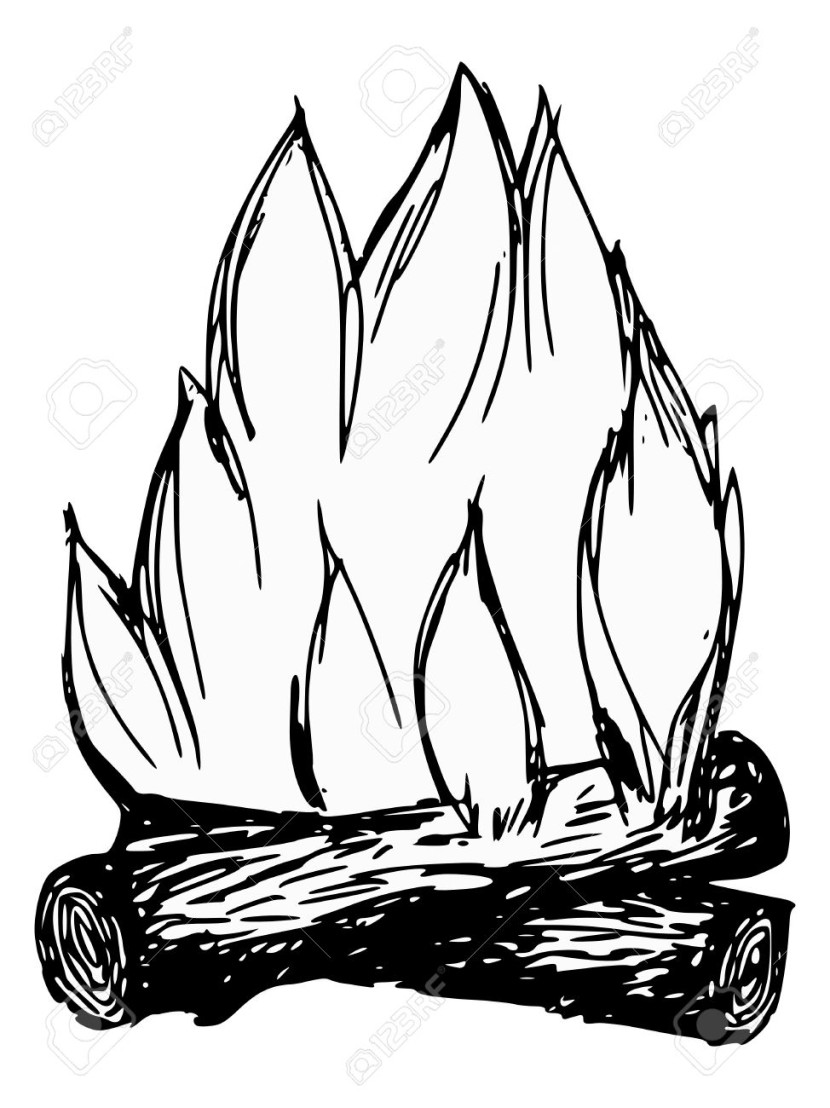 Drawn camp fire Drawn Royalty com Campfire Cartoon