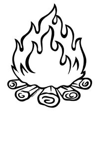 Drawn camp fire On clip Clipart Clip images