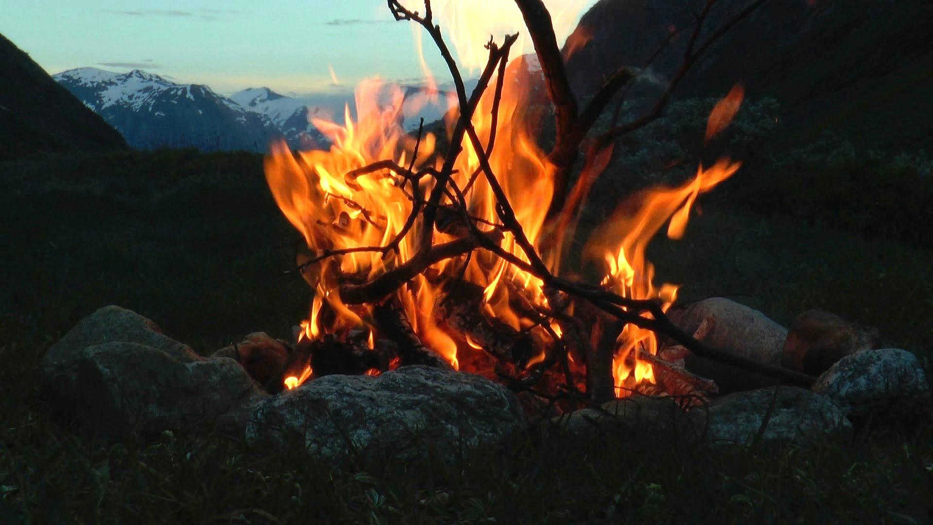 Drawn camp fire fireplace (HD) Campfire Mountain River Relaxing