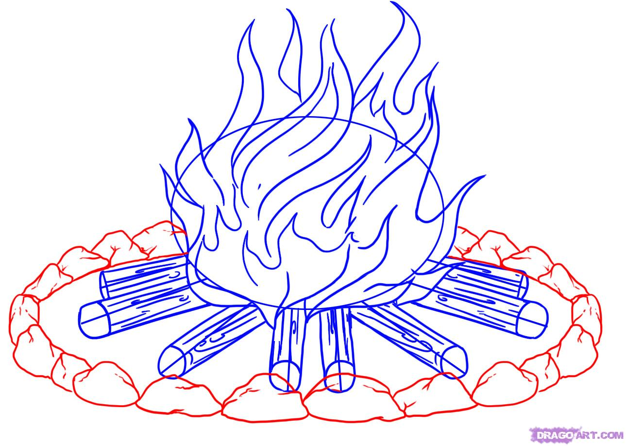 Drawn campire Campfire to Stuff How a