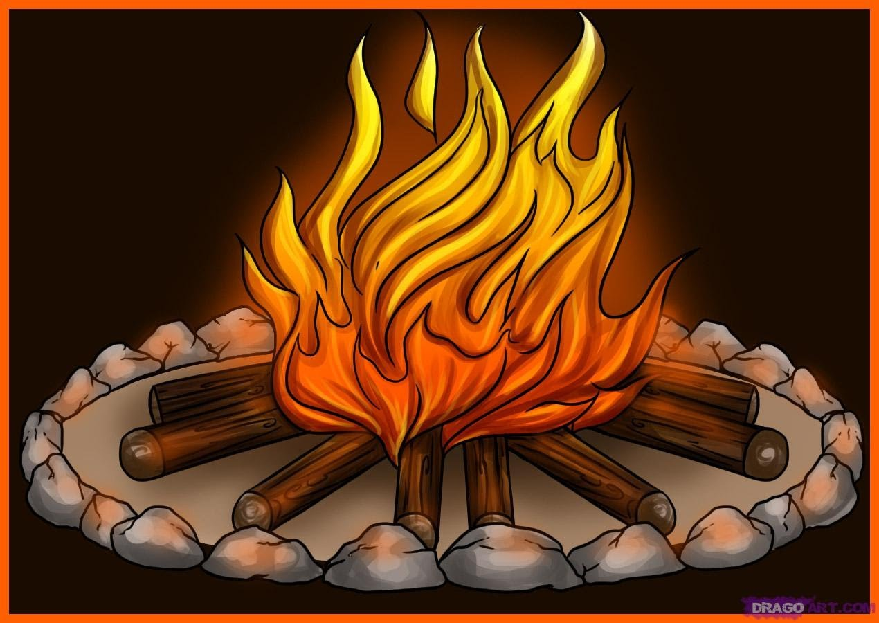 Camp Fire clipart bonfire night YouTube realistic (campfire)  a