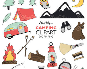 Camper clipart exploration Clipart Camping Etsy clip clipart