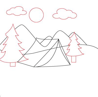 Drawn lake easy #13