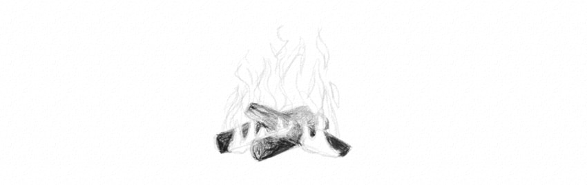 Drawn camp fire fireplace Draw shade Elements: to Draw
