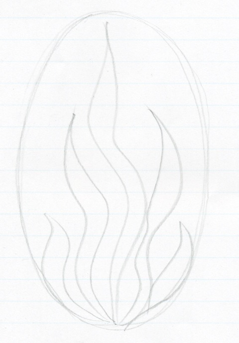 Drawn seaweed sea water Flames How Step To How