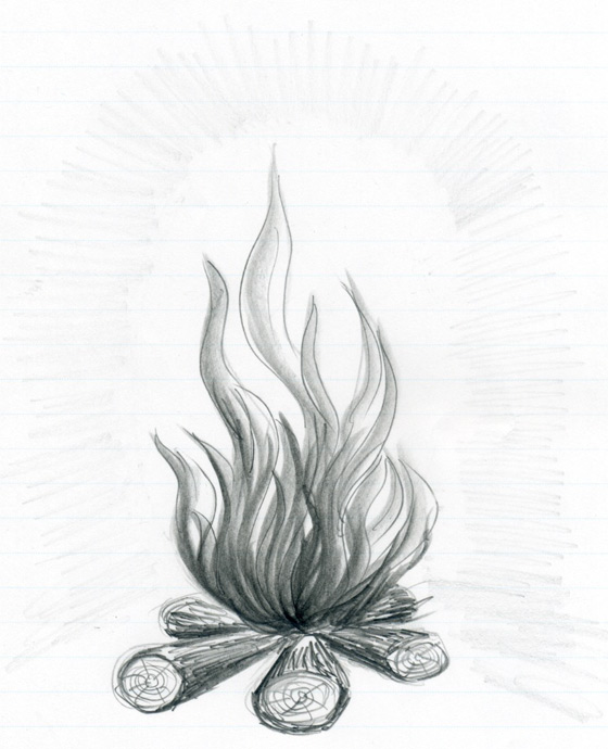 Drawn campfire  Flames How To Draw
