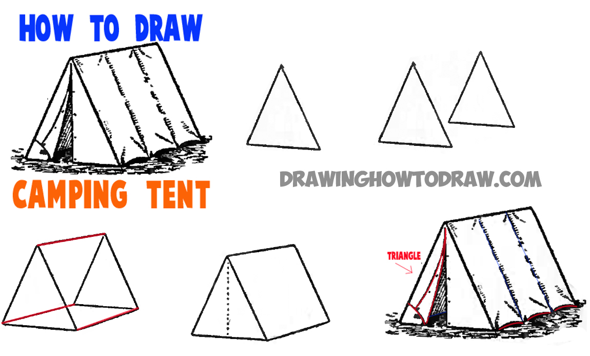 Drawn campire tent Tents to to how camping