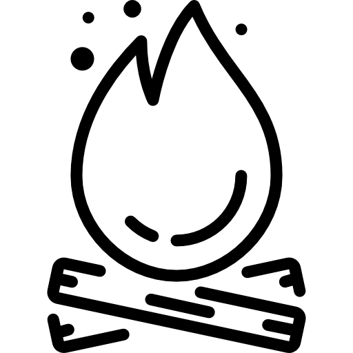 Drawn campire transparent PNG 2 Icon Burn Page