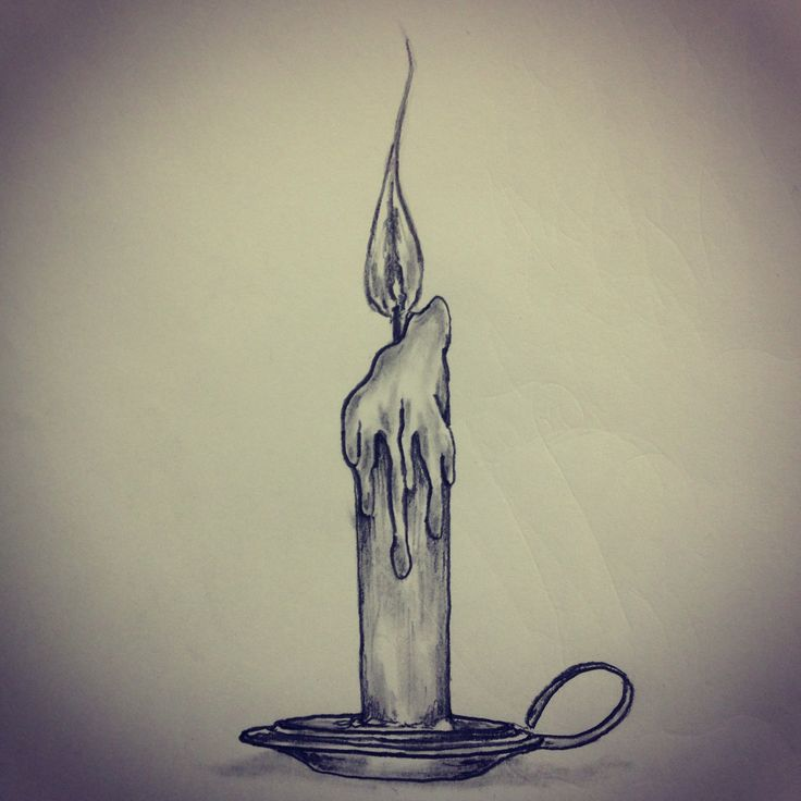 Drawn candle #12