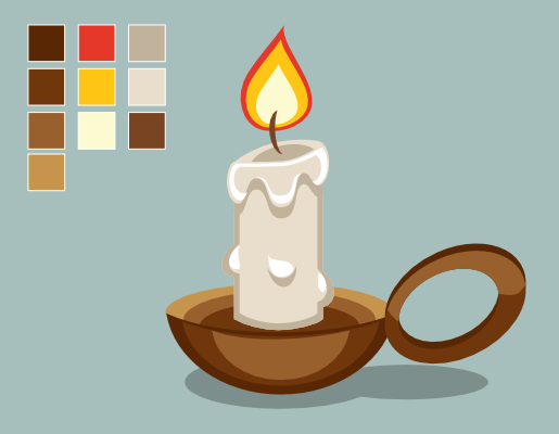 Drawn candle #14