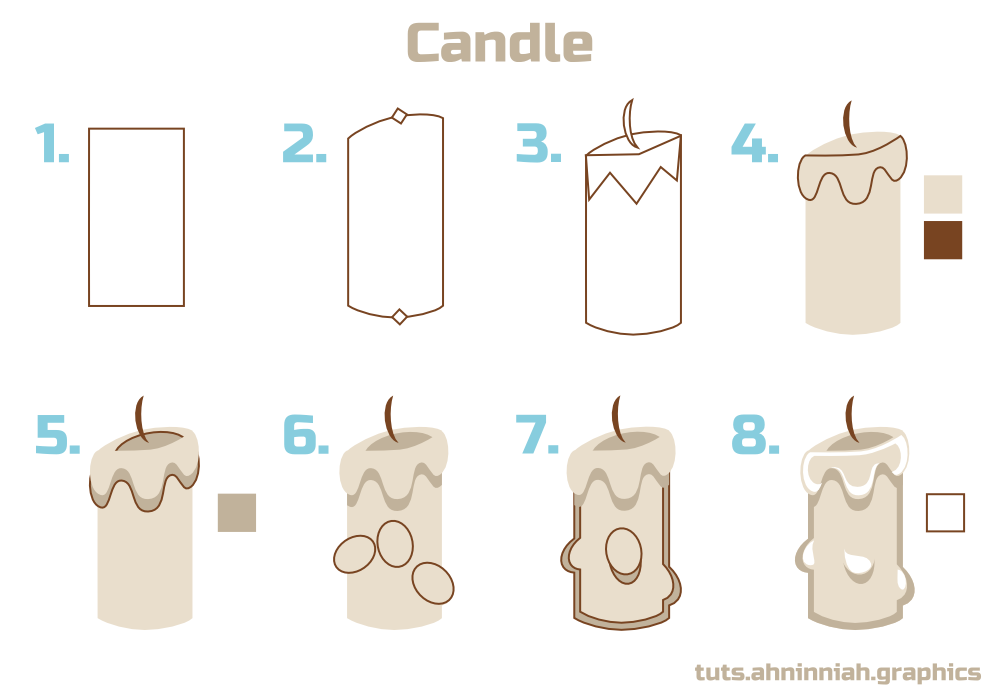Drawn candle #15