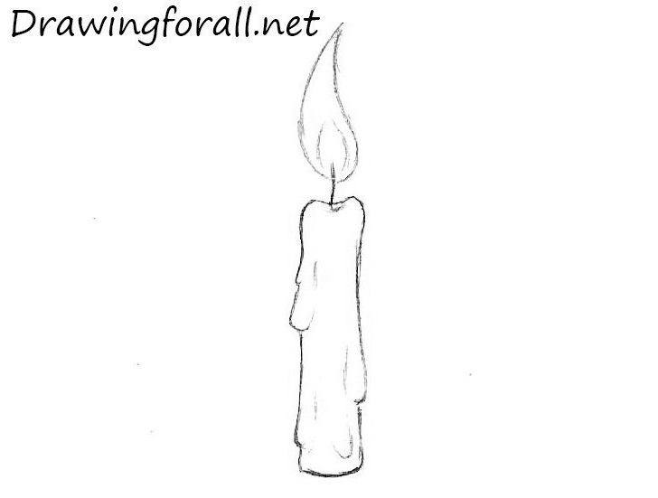 Drawn candle Drawing candle DrawingForAll Candle to