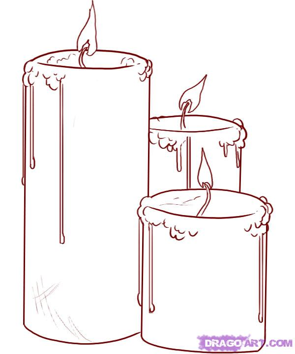 Drawn candle Step draw how Draw by