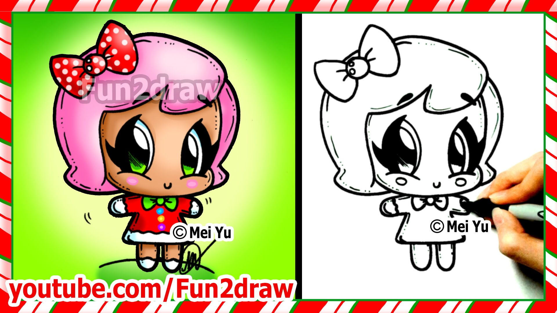 Drawn strawberry hand drawn Top Christmas  How to