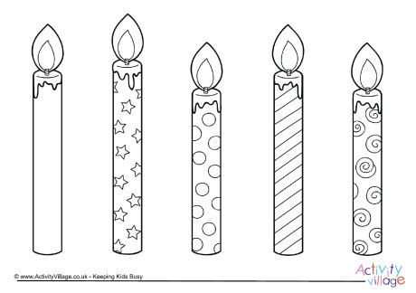 Drawn candle birthday candle #8