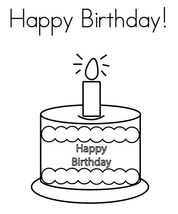 Drawn candle birthday candle #12