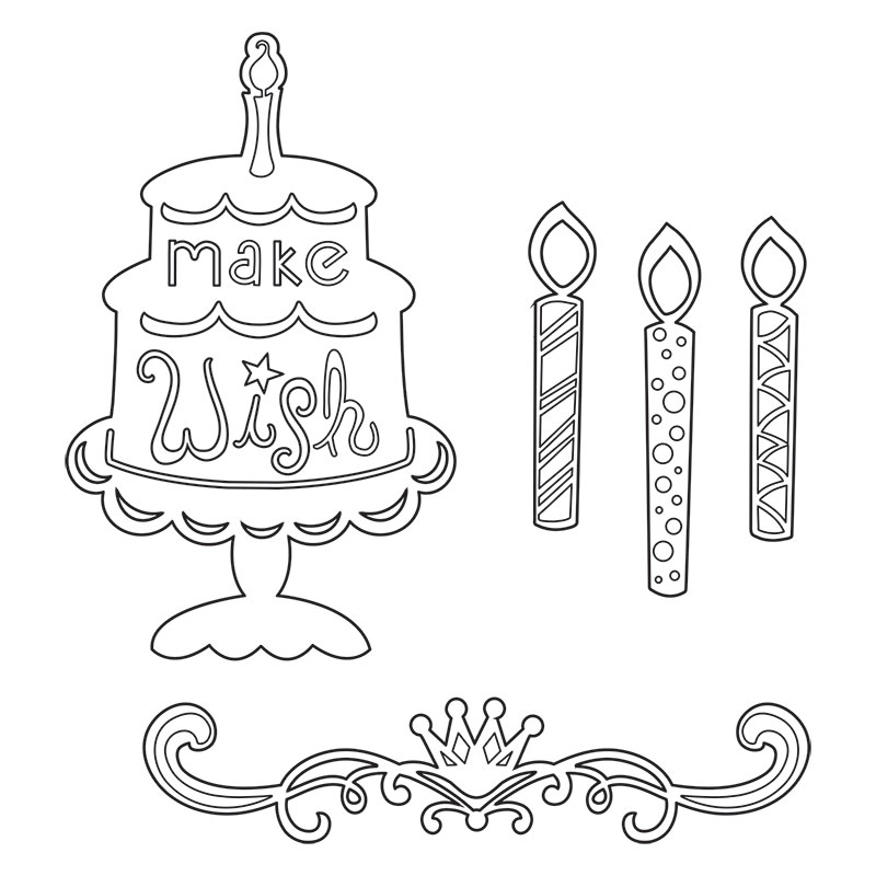 Drawn candle birthday candle #6