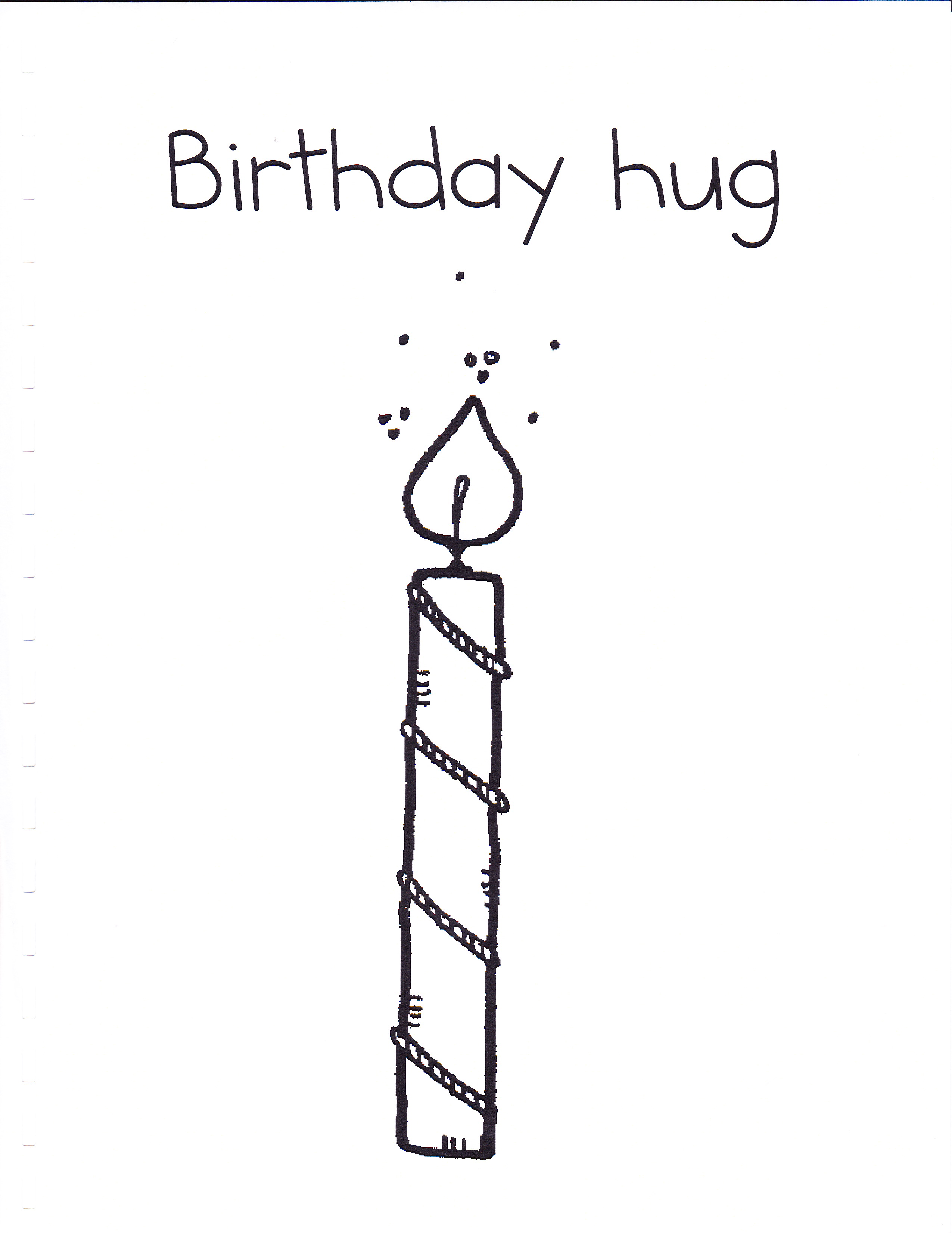 Drawn candle birthday candle #14