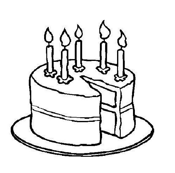 Cake clipart colouring page Clip Free Drawing Free Cakes