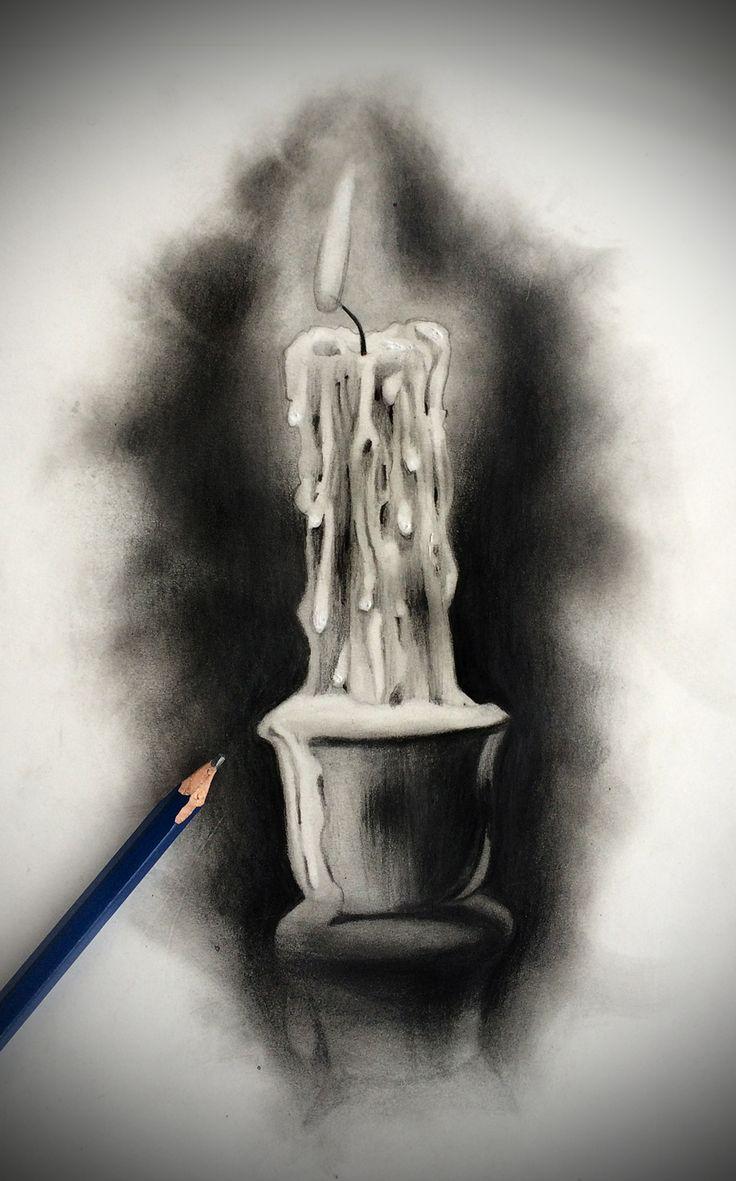 Drawn candle burned On badfish1111 on deviantart Pinterest