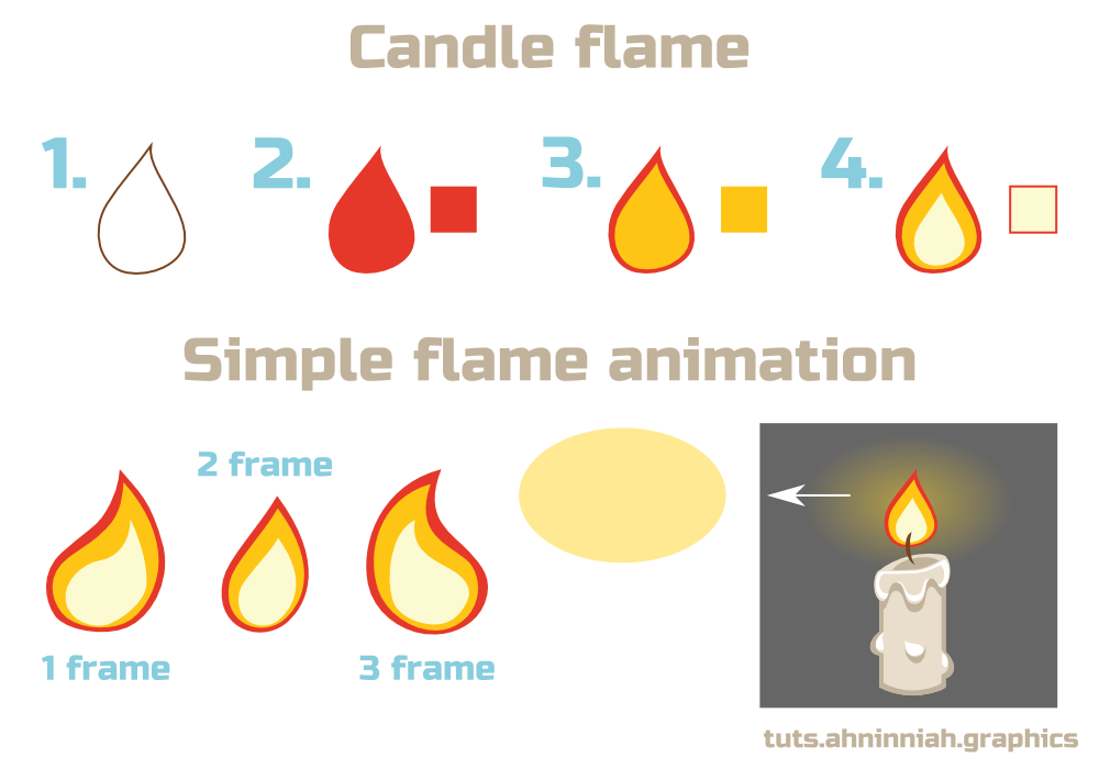 Drawn torch simple #8