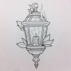 Drawn candle candle lantern #3