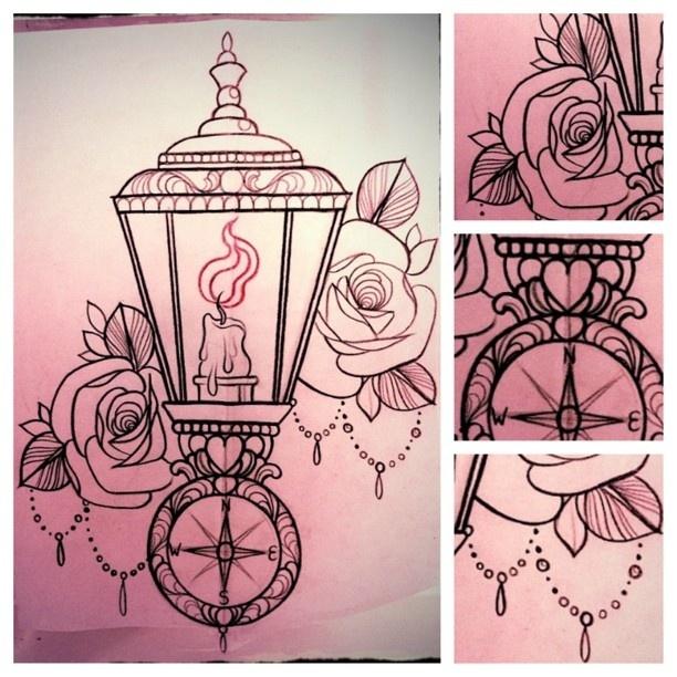 Drawn candle candle lantern #4