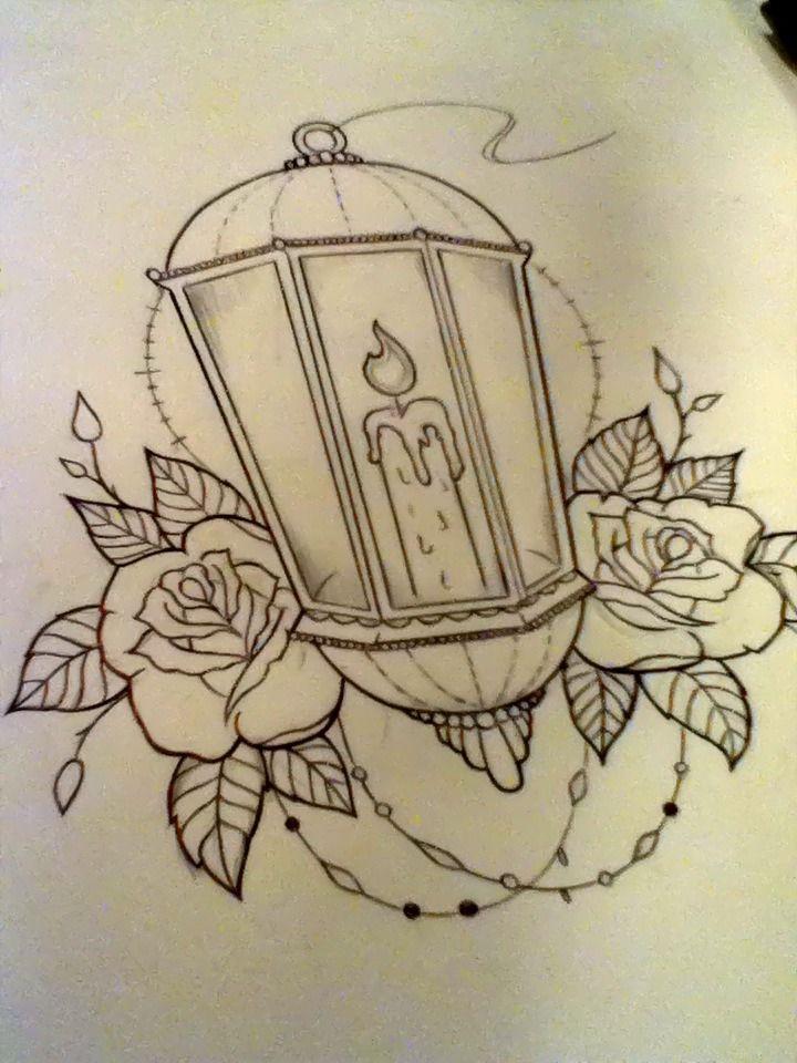 Drawn candle candle lantern #9