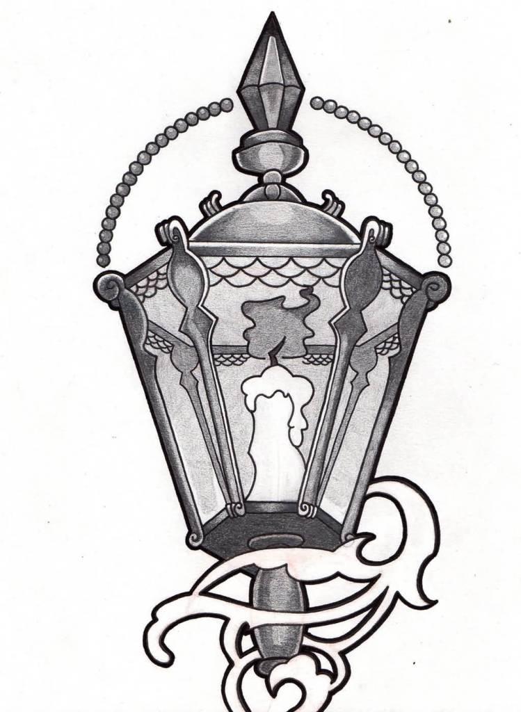 Drawn candle candle lantern #12