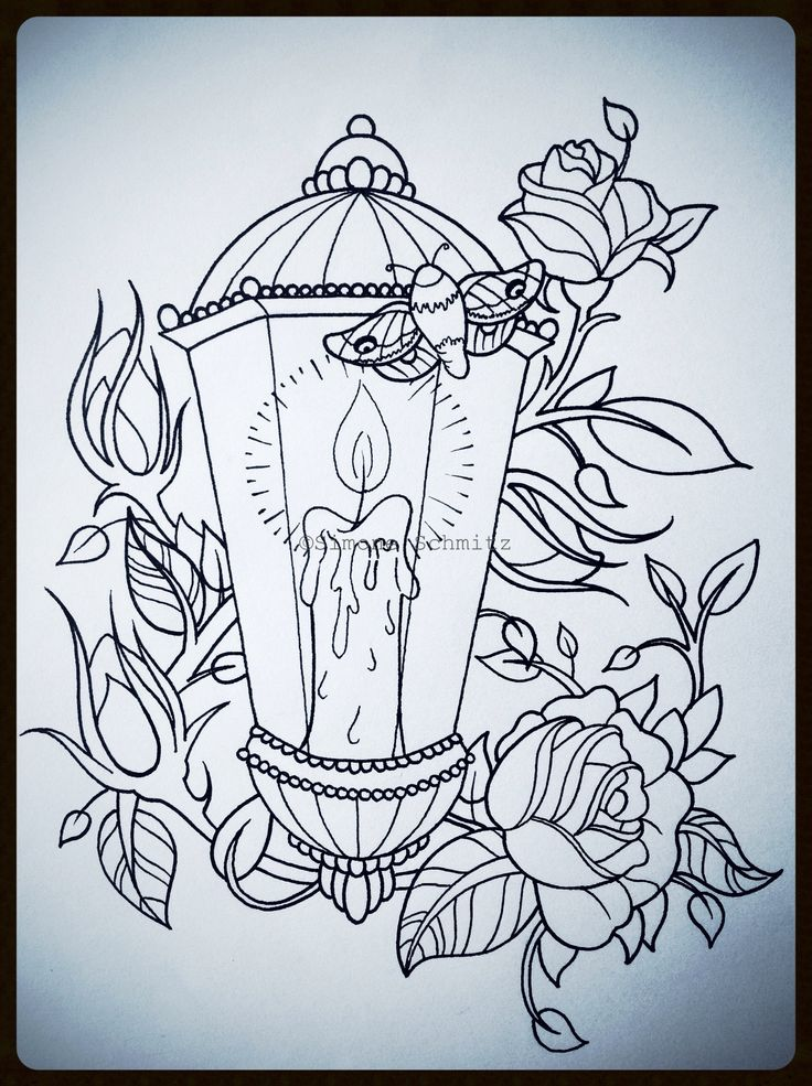 Drawn candle candle lantern #11