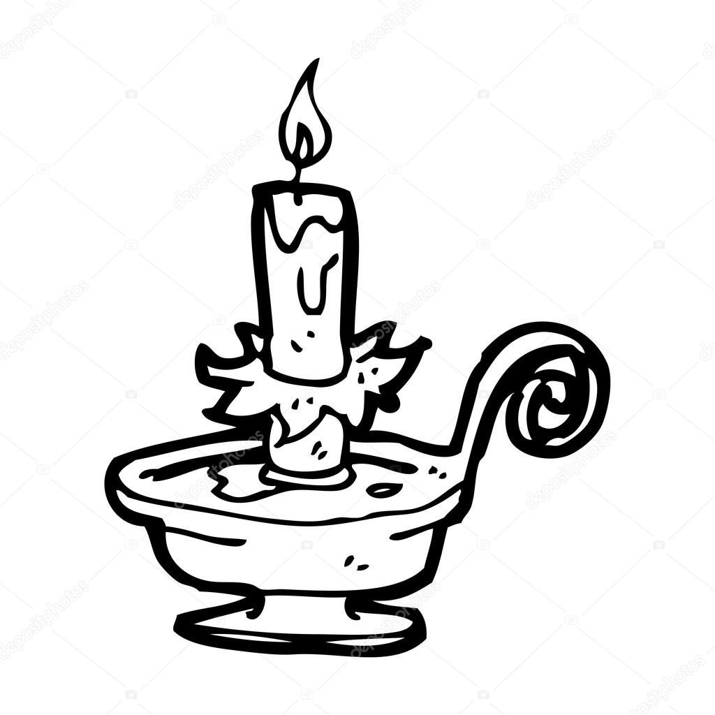 Drawn candle candle stand Stock Stock – Candle #19760431