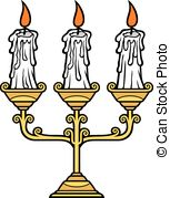 Drawn candle candle stand Clipart and Vector candles