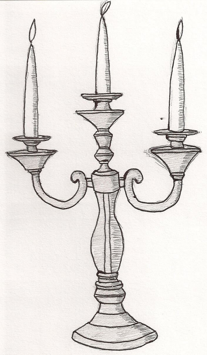Drawn candle candle stand Drawing 100 Search candlestick