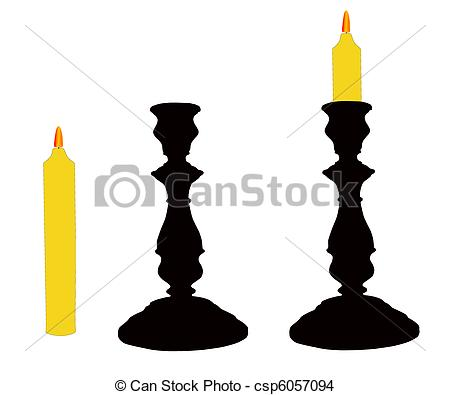 Candle clipart candlestick With candle The Vector of
