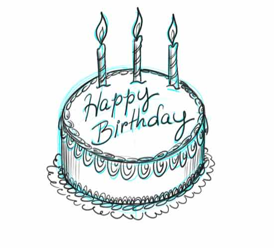 Drawn cake pencil drawing Own Step Cards Your Own