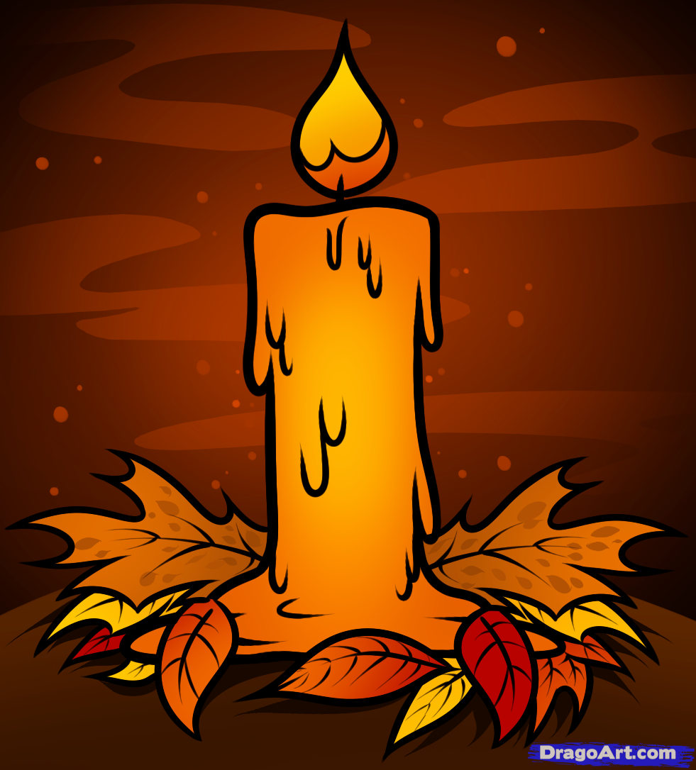 Drawn candle cartoon #1