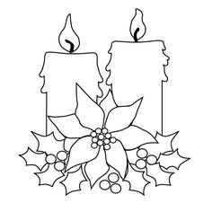 Drawn candle christmas candle #15