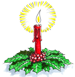 Drawn candle christmas candle #9